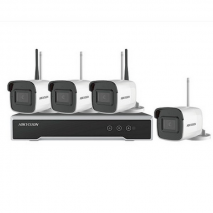 Sistem supraveghere kit complet camere ip wireless exterior 4 MP Hikvision cu hdd 1TB WD gata configurat