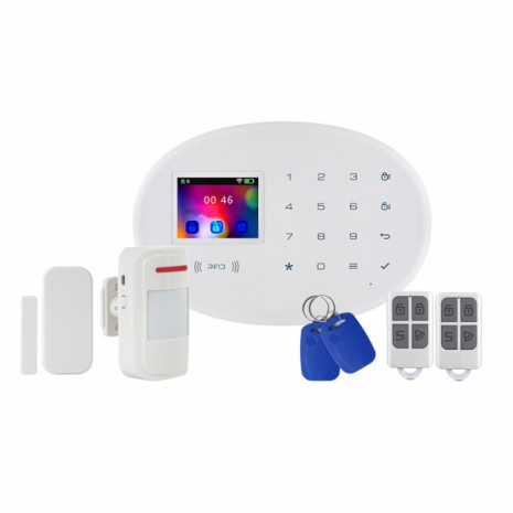 Kit alarma wireless cu GSM, WIFI si RFID Kerui KR-W20